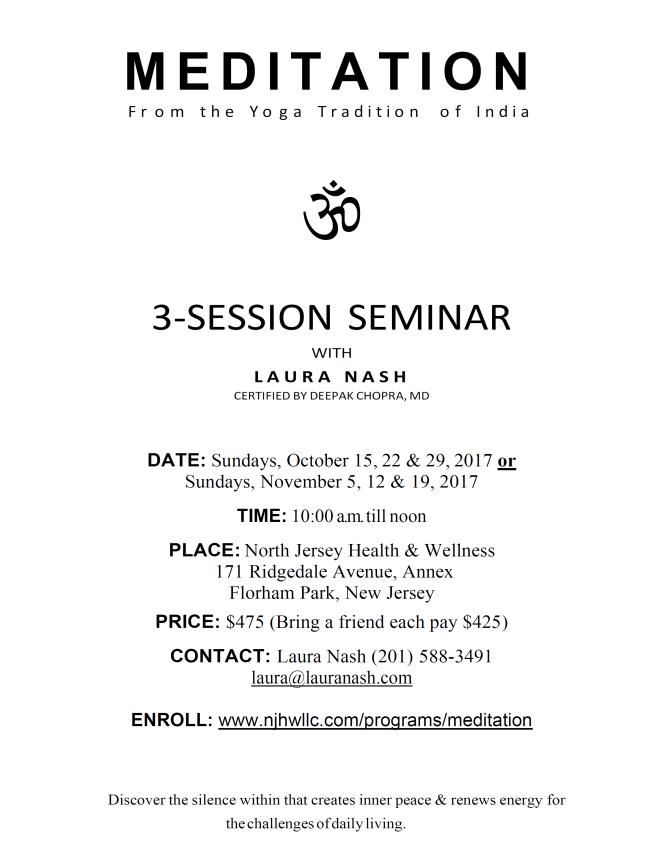 # Session Meditation Seminar